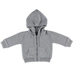 Baby's Only, Sweterek rozpinany z kapturem Jasnoszary, rozmiar 62