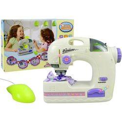 Maszyna do szycia ze światłami + nici - Lean Toys. DARMOWA DOSTAWA DO KIOSKU RUCHU OD 24,99ZŁ