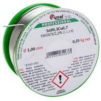 Akcesoria lutownicze, Spoiwo lutownicze bezołowiowe Cynel 1,0 mm 250 g