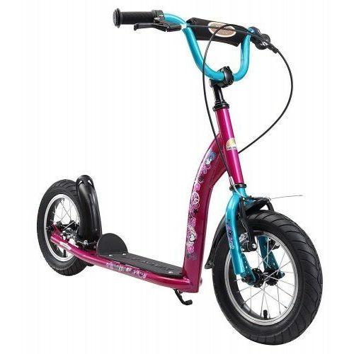 """Hulajnogi, Hulajnoga dla dzieci pompowane koła 12"""" BikeStar kolor purpurowo-turkusowy"""