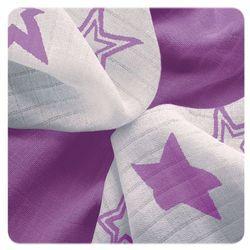 XKKO chusteczki bambusowe Stars 30x30 cm, 9 szt 28 x 39 cm Purple