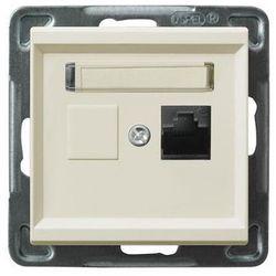 Gniazdo 1xRJ45, kat. 5e, MMC ecru GPK-1R/K/m/27 SONATA