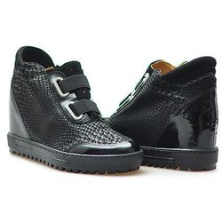 Sneakersy Eksbut 66-4297-B57/121/136 Czarne lico