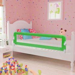 vidaXL Barierka ochronna do łóżeczka 150 x 42 cm zielona Darmowa wysyłka i zwroty