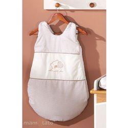 MAMO-TATO Śpiworek haftowany Miś z serduszkiem w brązie