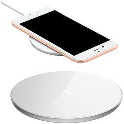 Baseus Simple stylowa bezprzewodowa ładowarka Qi 2A 1.67A 10W z kablem USB / Lightning 1,2M biały (CCALL-JK02) Ładowarki -20% (-20%)