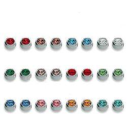 Kolczyki 213 Kpl kamieni oprawa pełna kolor srebrny