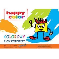 Blok rysunkowy, format A3, 15 kartek, kolorowy, HAPPY COLOR - Super Ceny - Autoryzowana dystrybucja - Szybka dostawa - Hurt - Wyceny