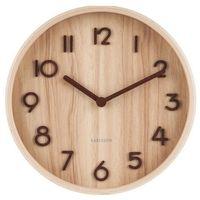 Zegary, Zegar ścienny Pure mały jasne drewno