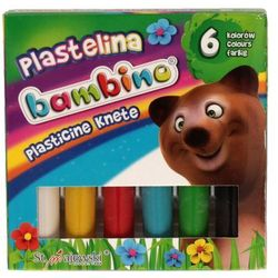 Plastelina 6kol Standard Bambino