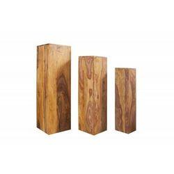 IMVICTA kolumny MAKASSAR zestaw 3 sztuk - Sheesham, drewno naturalne