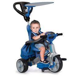 Feber Niebieski Rowerek trójkołowy Baby Twist 4w1 - Obrotowy 360 stopni