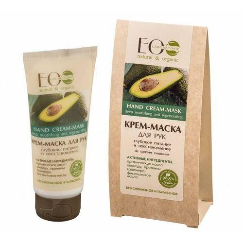Kremy do rąk, ECOLAB Krem/maska do rąk - organiczny olej avocado, proteiny kaszmiru, olej pistacjowy, prowitamina B5 - nie wymaga zmywania (bez silikonów i parabenów) 100ml