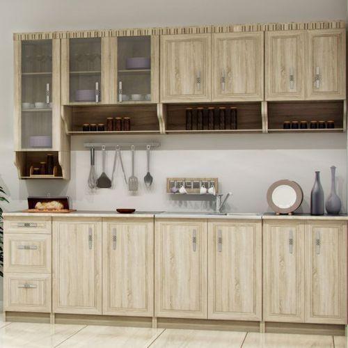 Zestawy mebli kuchennych, Gotowy zestaw mebli kuchennych Olek 2,6 m dąb sonoma