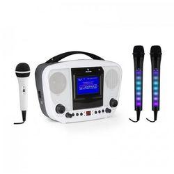 Auna KaraBanga + Dazzl zestaw do karaoke z mikrofonami Bluetooth wyświetlacz TFT