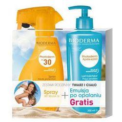 BIODERMA Photoderm spray SPF 30 (400ml) + Emulsja po opalaniu Photoderm Apres-Soleil 500ml Gratis!