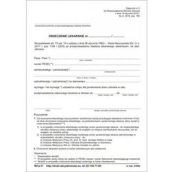 Orzeczenie lekarskie dla poratowania zdrowia [Mz/Lp-21]