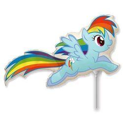 Balon foliowy do patyka My Little Pony - Rainbow Dash - 37 cm