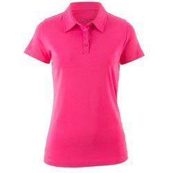 Shirt polo z krótkim rękawem bonprix ciemnoróżowy