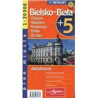 Przewodniki turystyczne, Bielsko-Biała + 5 - plan miasta (opr. broszurowa)