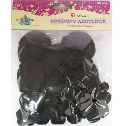 Kreatywne dla dzieci, Zestaw dekoracyjny - Pompony akryl czarne 45 sztuk. 338517. - Titanum