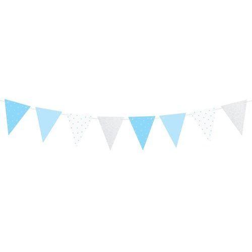 Pozostałe wyposażenie domu, Baner flagi niebieski na roczek 1st birthday - 1,3 m