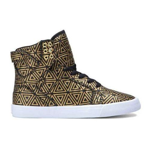Damskie obuwie sportowe, buty SUPRA - Women Skytop Gold/Black (GLB) rozmiar: 35.5
