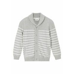 Sweter bawełniany w prążek bonprix jeżynowy