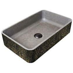 TEXTURAL FANTAZY - betonowa umywalka nablatowa ze strukturalnym zdobieniem metalicznym rabat 40%