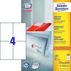 Etykiety uniwersalne Avery Zweckform 3483, 105x148mm