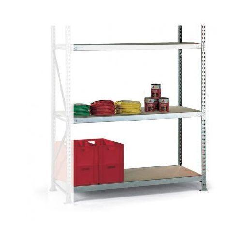 Regały warsztatowe, Regał półkowy, nośność 600 kg, 2500x2200x1050 mm, dodatkowy