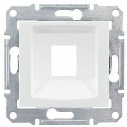 Płytka centralna Schneider Sedna SDN4300521 1xRJ45 do Systimax biała