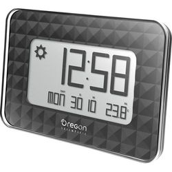Zegar ścienny cyfrowy Oregon Scientific JW 208 black Sterowany radiowo, (DxSxW) 30 x 246 x 173 mm