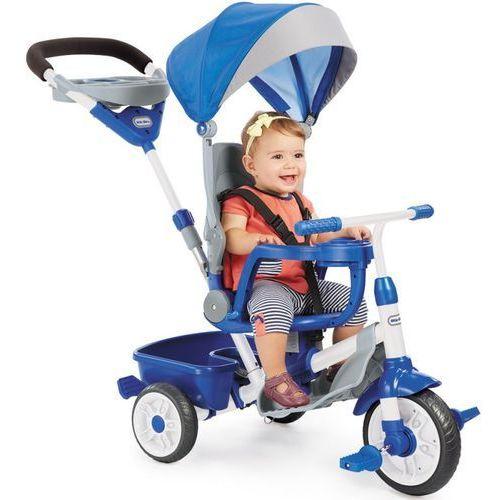 Rowerki trójkołowe, Little Tikes Rowerek Trójkołowy 4w1 Perfect Fit Niebieski Dla Dziecka