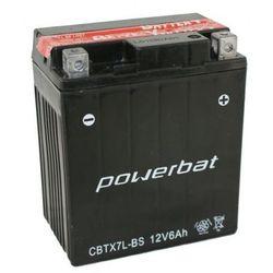 Akumulator motocyklowy POWERBAT CBTX7L-BS / YTX7L-BS 12V 6Ah 100A P+