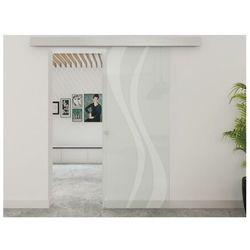 Zlicowane drzwi przesuwne IRINA – 205 × 83 cm (wys. × szer.) – szkło hartowane