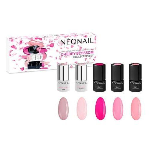 Zestawy do manicure, Zestaw lakierów hybrydowych Cherry Blossom: 5 kolorów x 3ml