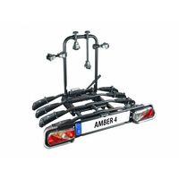 Bagażniki rowerowe do samochodu, Bagażnik na rowery EUFAB AMBER 4 uchwyt na hak