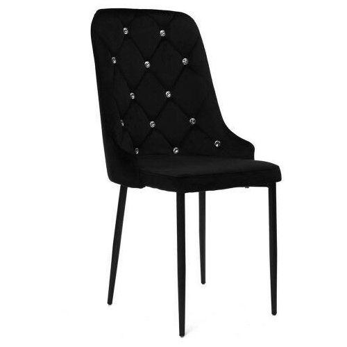 Krzesła, NOWOCZESNE KRZESŁO HY-DC0255 ZIELONY WELUR