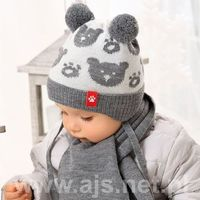 Zestawy dodatków dla dzieci, AJS 38-420 Czapka+szalik komplet