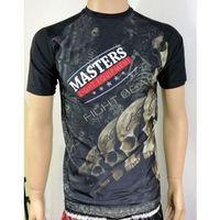 Pozostałe sporty walki, Rashguard MASTERS krótki rękaw - RSG-MFE-1 czarny