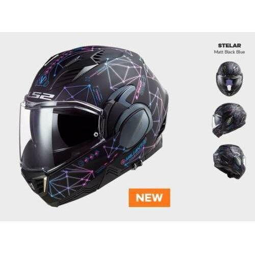 Kaski motocyklowe, KASK MOTOCYKLOWY LS2 FF900 VALIANT II STELAR MATT BLACK BLUE nowość 2021roku