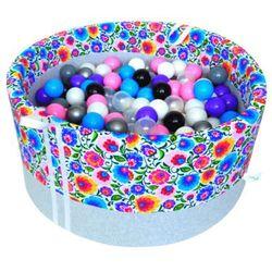 Suchy basen z piłeczkami dla dzieci BabyBall łowicki jasny