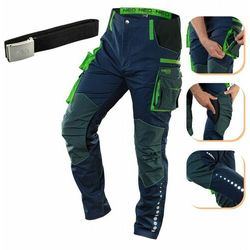 Spodnie robocze PREMIUM 62% bawełna 35% poliester 3% elastan XXL 81-226-XXL