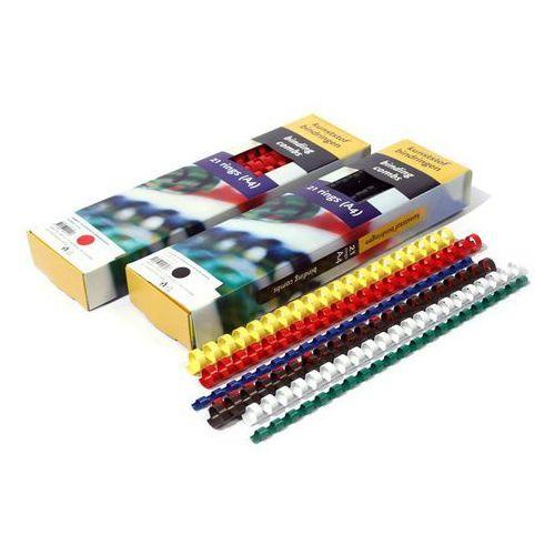 Grzbiety do bindownic, Grzbiety do bindowania plastikowe, żółte, 45 mm, 50 sztuk, oprawa do 440 kartek - Super Ceny - Rabaty - Autoryzowana dystrybucja - Szybka dostawa - Hurt
