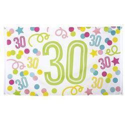 Flaga urodzinowa na trzydzieste urodziny - 1 szt.