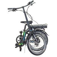 """Rowery elektryczne, Składany rower elektryczny Devron 20122 20"""" - model 2017, Czarny"""