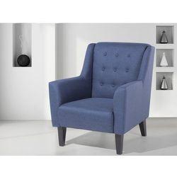 Fotel niebieski - do salonu - wypoczynkowy - klubowy - WILMINGTON