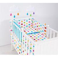Zabezpieczenia do łóżeczek, MAMO-TATO Ochraniacz rozbieralny do łóżeczka 60x120 cm Kule lato małe / niebieski