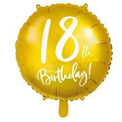 """Balon foliowy """"18 Urodziny 18th Birthday"""", PartyDeco, 18"""" złoty"""